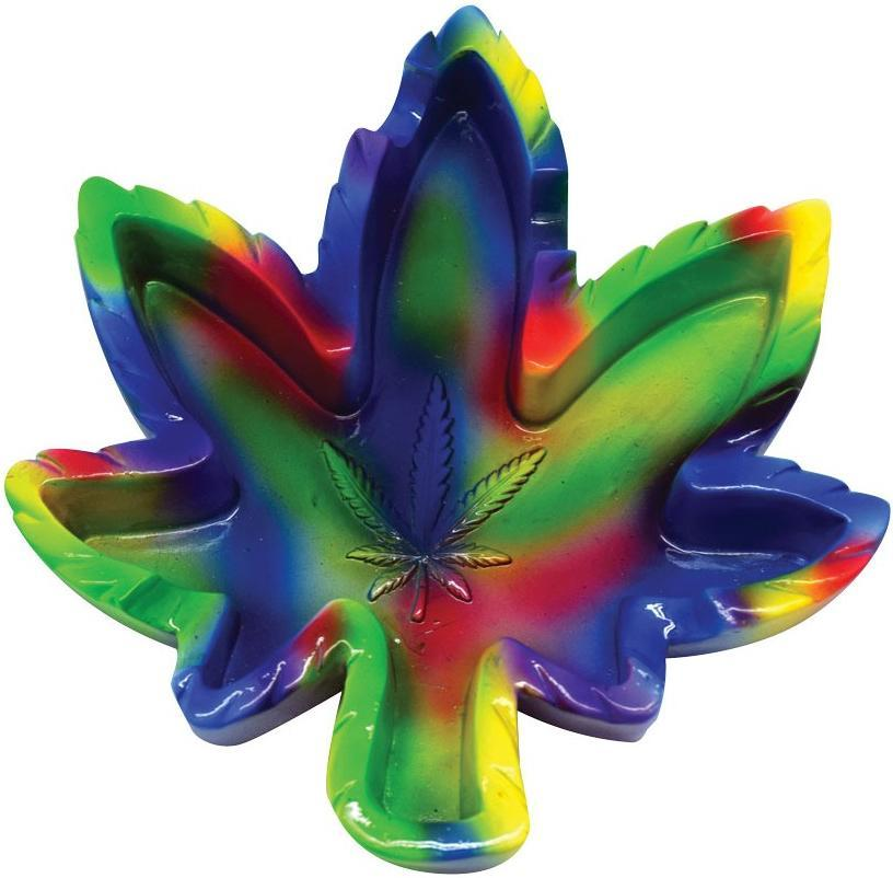 Ashtrays Hemp Leaf - Tie-Dye - Ashtray 008268