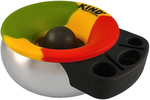 Ashtrays rasta Kind Cache - Silicone and Stainless Steel - Ashtray 007290