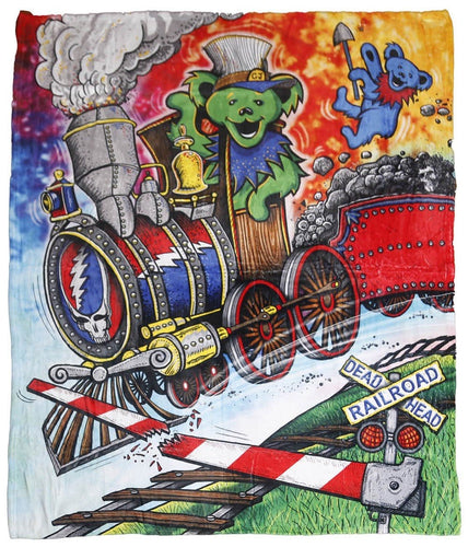 Blankets Grateful Dead - Casey Jones Bear - Fleece Blanket 100622