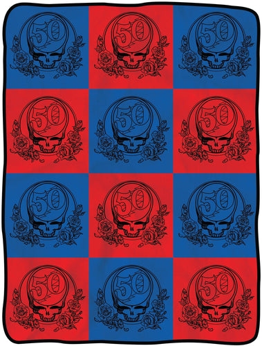 Blankets Grateful Dead - Checkered 50th Anniversary - Blanket 008013