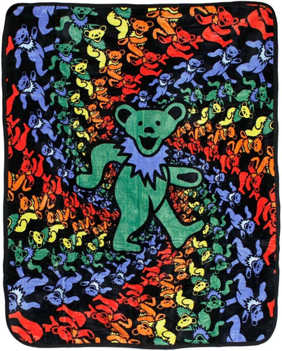 Blankets Grateful Dead - Dancing Bear Spiral - Fleece Blanket 013863