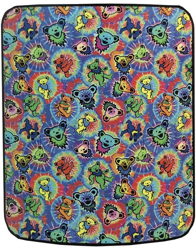 Blankets Grateful Dead - Dancing Bear Tie-Dye - Fleece Blanket 100638