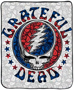 Blankets Grateful Dead - Paisley Steal Your Face - Fleece Blanket 100032