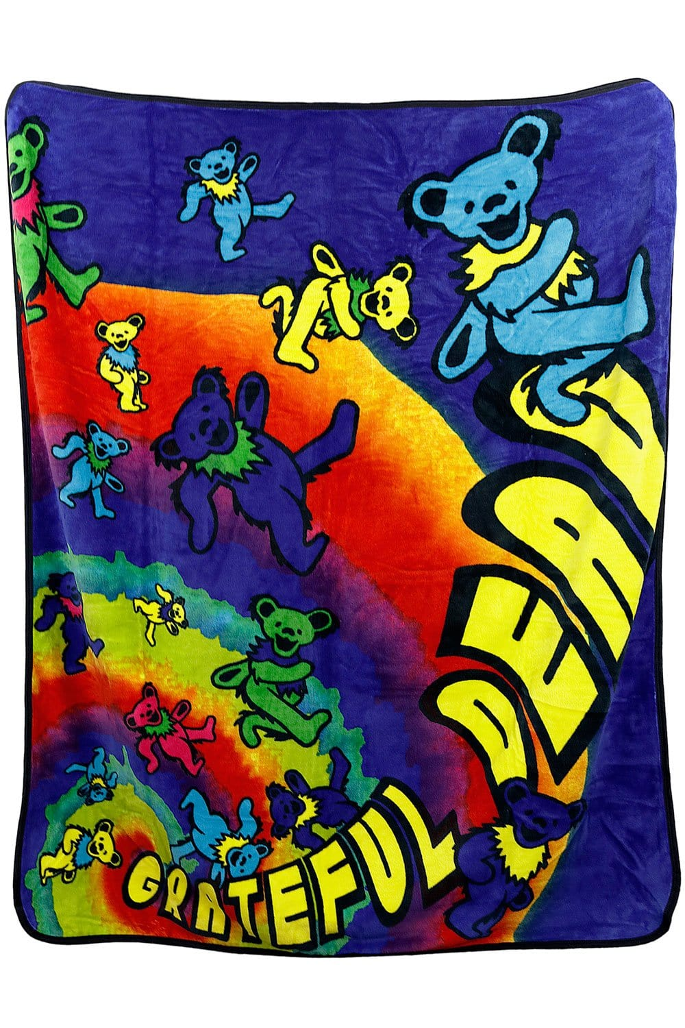 Blankets Grateful Dead - Psychedelic Bear Spiral - Fleece Blanket 100419