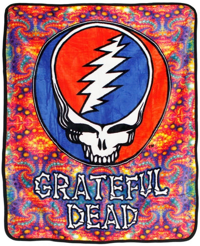 Blankets Grateful Dead - Steal Your Face Fractals - Fleece Blanket 013109