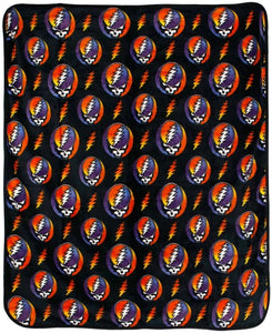 Blankets Grateful Dead - Steal Your Face Jumble - Fleece Blanket 100191