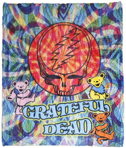 Blankets Grateful Dead - Steal Your Face Swirls - Fleece Blanket 100621
