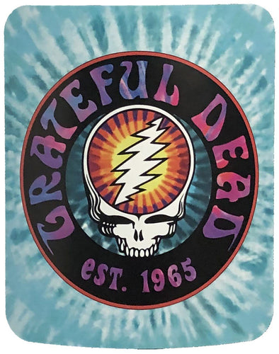 Blankets Grateful Dead - SYF Turquoise Tie-Dye - Fleece Blanket 100637