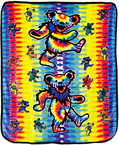 Blankets Grateful Dead - Tie-Dye Dancing Bears - Fleece Blanket 100209