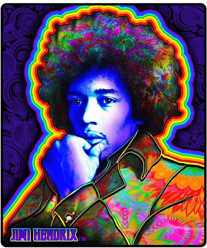 Jimi Hendrix - Portrait - Fleece Blanket