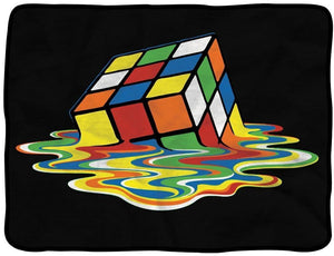 Blankets Melting Rubik's Cube - Fleece Blanket 007851