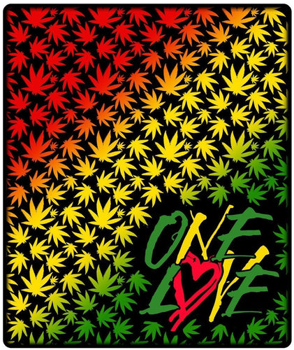 Blankets One Love - Rasta - Fleece Blanket 100190