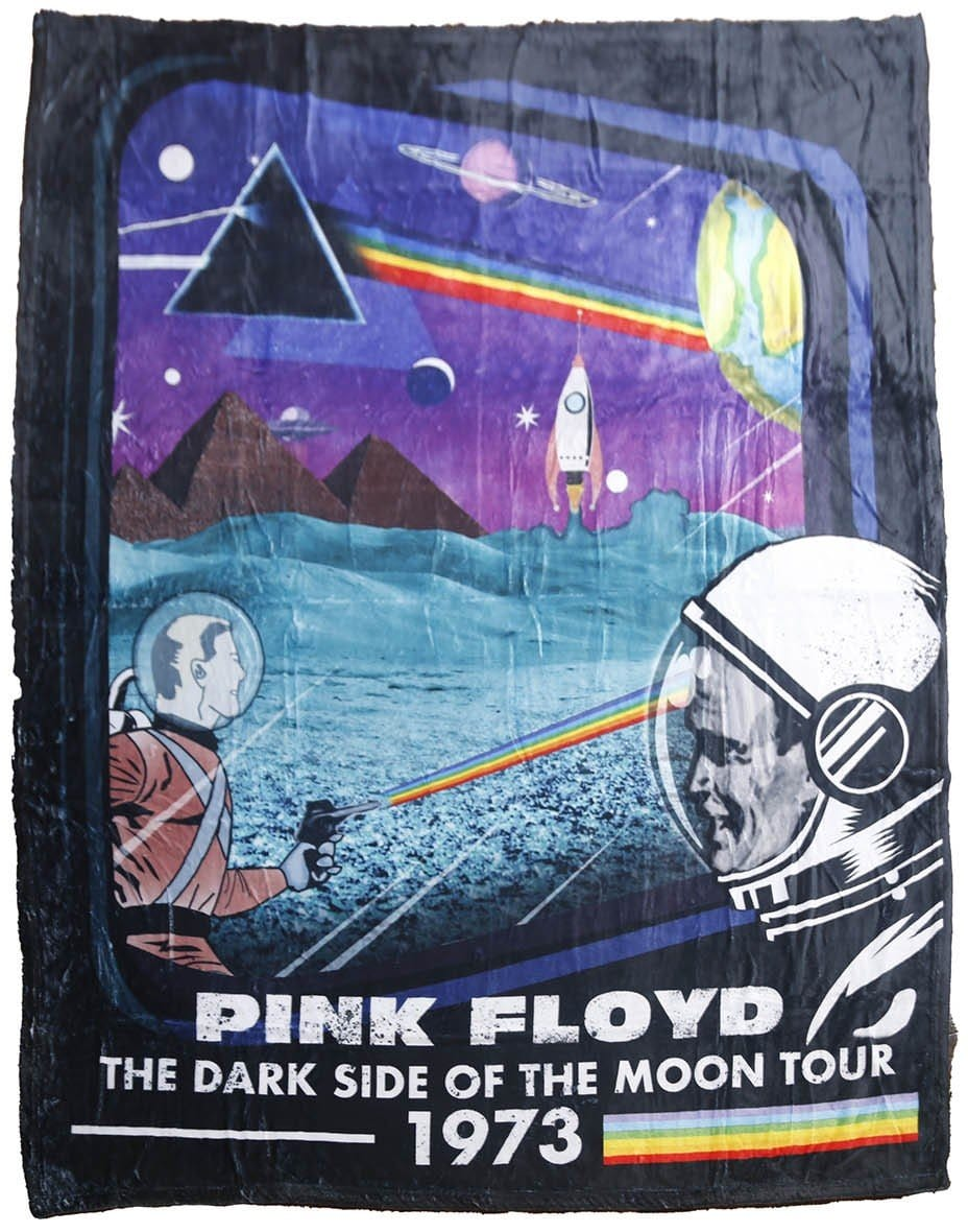 Blankets Pink Floyd - Dark Side of the Moon Retro - Fleece Blanket 100616