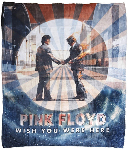 Blankets Pink Floyd - Wish You Were Here Galaxy - Fleece Blanket 100618