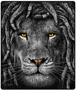 Blankets Rasta Lion - Fleece Blanket 100189