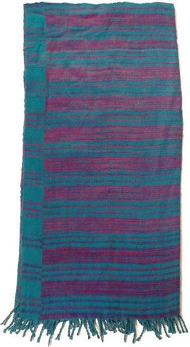 Blankets Striped - Blue and Purple - Wool Blanket 008115