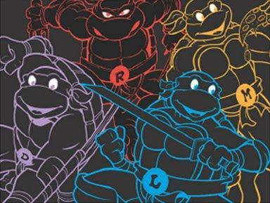 Blankets Teenage Mutant Ninja Turtles - Neon Outline - Fleece Blanket 005833