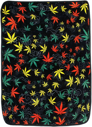 Blankets Weed Jumble - Rasta - Fleece Blanket 013106