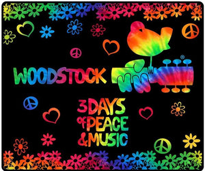 Blankets Woodstock 3 Days of Peace - Tie-Dye - Fleece Blanket 100184