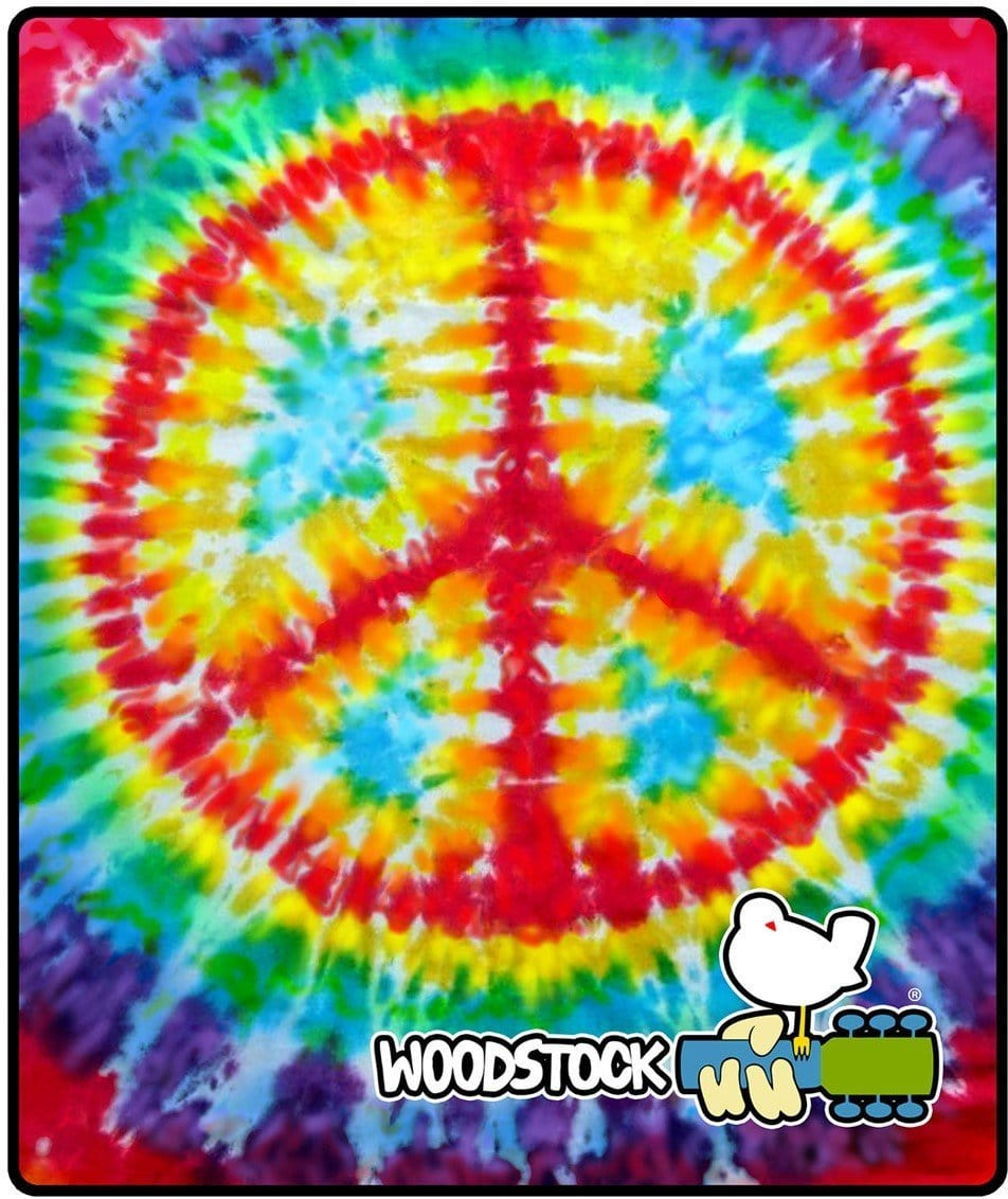Blankets Woodstock Peace - Tie-Dye - Fleece Blanket 100183