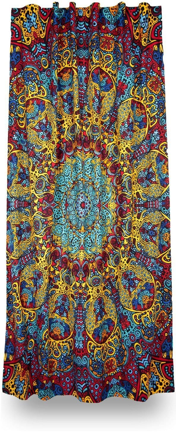 Curtains 3D - Psychedelic Sunburst - Curtain 100133