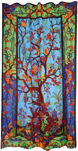 Curtains 3D - Tree of Life - Multi-Color - Curtain 100134