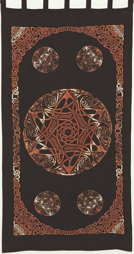 Curtains Celtic Knot - Brown Tie-Dye - Curtain 100120