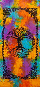 Curtains Celtic Knot Tree of Life - Tie-Dye - Curtain 100373