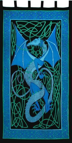 Curtains blue English Dragon - Blue - Curtain 006018