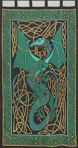Curtains English Dragon - Green - Curtain 006018