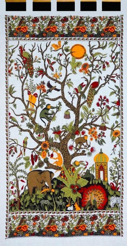 Curtains Family Tree of Life - White - Curtain 009650