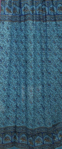 Curtains Jaipur Elephants - Turquoise - Curtain 100125