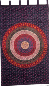 Curtains Napthol Circle of Flowers Mandala - Curtain 100047
