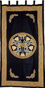Curtains Pentacle and Goddess - Yellow and Black - Curtain 006259