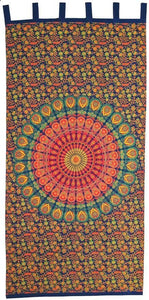 Curtains Sanganer Peacock Mandala - Curtain 009994