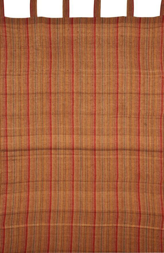 Curtains Striped - Burgundy and Brown - Curtain 100121