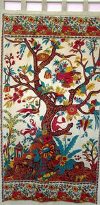 Curtains Tree of Life - Beige - Curtain 005923