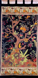 Curtains Tree of Life - Black and Gold - Curtain 005922