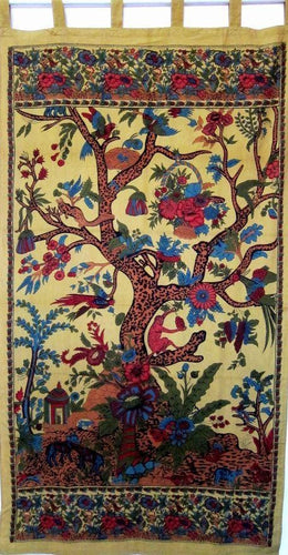 Curtains Tree of Life - Gold - Curtain 005917