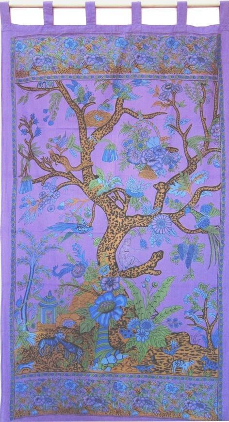 Curtains Tree of Life - Purple - Curtain 005920