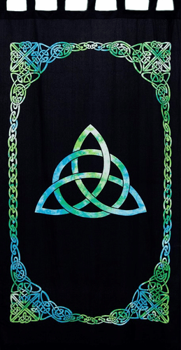 Curtains Triquetra - Green and Blue - Curtain 009729