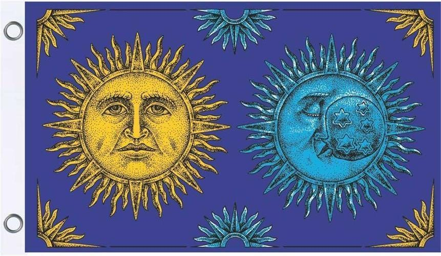 Flags Celestial Sun and Moon - Flag 100181