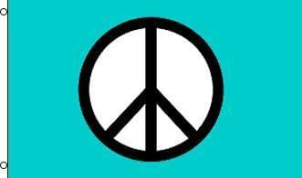 Flags Peace - Turquoise - Flag 002356