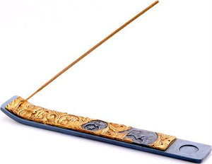 Incense Burning Rage - Celestial Sun and Moon - Canoe Incense Burner 100449