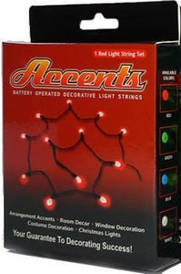 lights Faceted Accents - Red - Mini String Lights 004856
