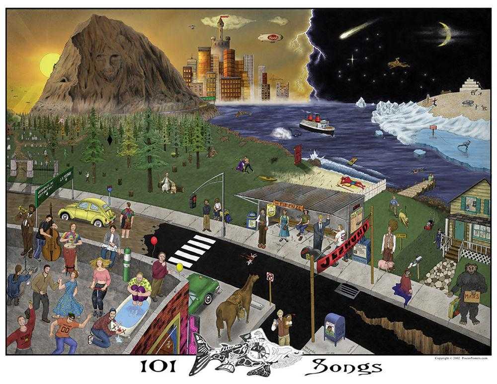 Posters 101 Phish Songs - Poster 100814