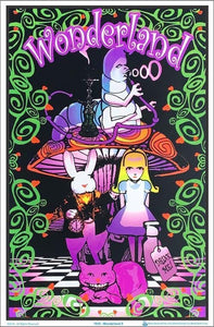 Posters Alice in Wonderland - Digital Wonderland - Black Light Poster 001425