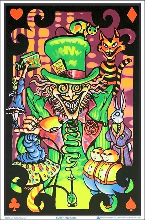 Posters Alice in Wonderland - Mad Hatter - Black Light Poster 100170