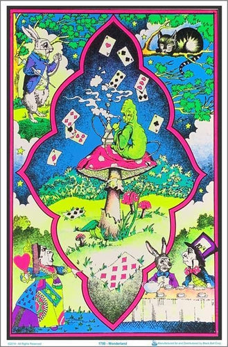 Posters Alice in Wonderland - Mushroom - Black Light Poster 100176