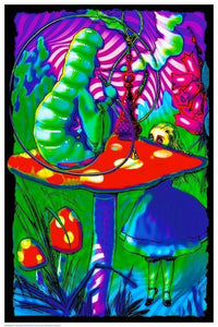 Posters Alice in Wonderland - Psychedelic Alice - Black Light Poster 100180